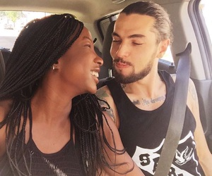 couple, interracial, and Relationship image