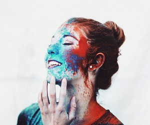 girl, photography, and blue image