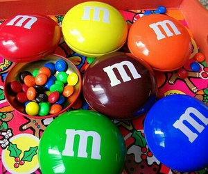 chocolate, m&m, and food image