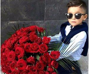 boy, fashion, and flowers image