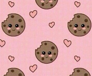 Cookies, background, and pink image