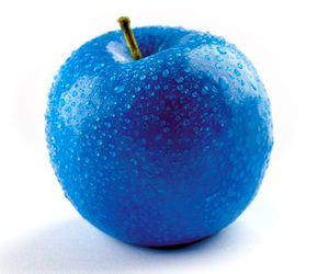 blue and apple image