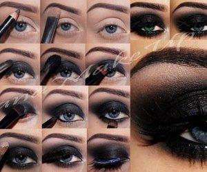 make up, makeup, and eyes image