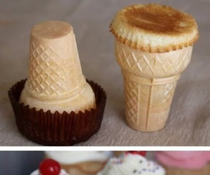 cupcake, diy, and ice cream image