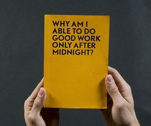 book, midnight, and yellow image