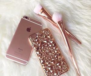 iphone, pink, and makeup image
