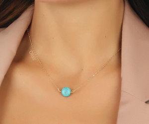 bridal necklace, etsy, and something blue image