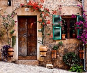 flowers, vintage, and door image