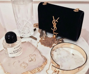 YSL, gold, and bag image