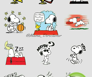 characters, peanuts, and snoopy image