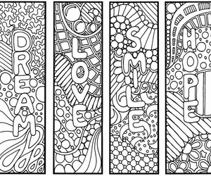 bookmarks, zentangle, and creative image