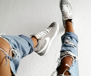 fashion, nike, and jeans image
