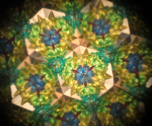colorful, green, and kaleidoscope image