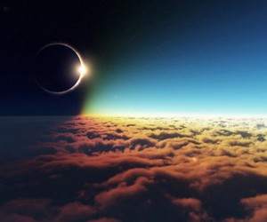 eclipse, moon, and sky image