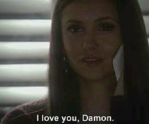 the vampire diaries, delena, and love image