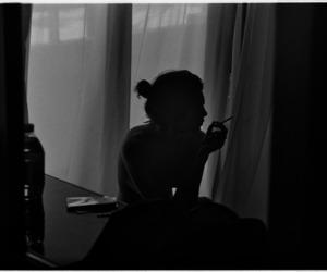sigara, yalnız, and gece image