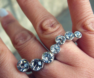 rings, finger, and ring image
