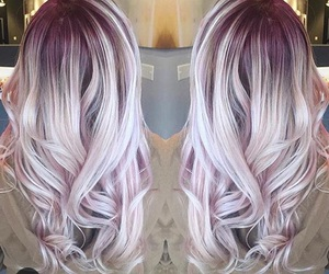 hair, white, and curly image