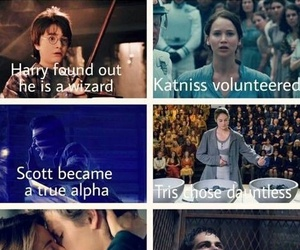teen wolf, harry potter, and divergent image