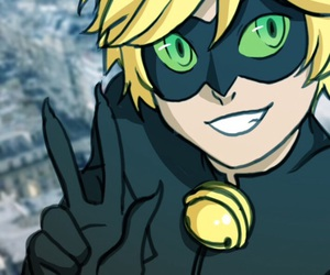 Adrien, Chat Noir, and miraculous ladybug image