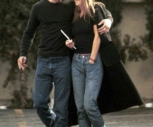 Jennifer Aniston, brad pitt, and love image