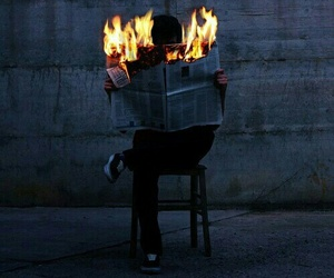 fire, grunge, and boy image
