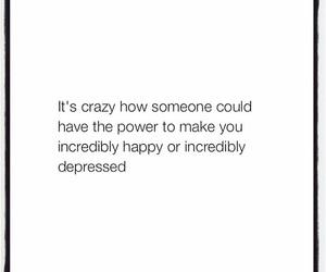 quote, depressed, and happy image