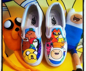 shoes, adventure time, and vans image