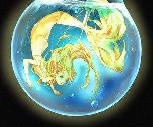аниме, арт, and русалка image