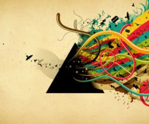 Pink Floyd, art, and colors image