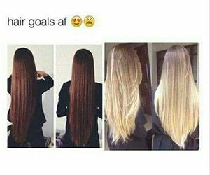 beautiful, hair goals, and long image