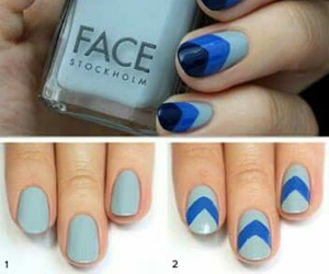 manicure, nail colour, and nail design image