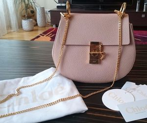 pink, chloe, and bag image