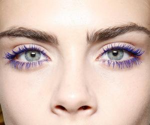 eyes, model, and purple image