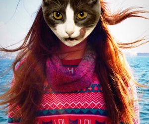 Best, cat, and girl image