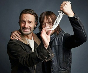 norman reedus, andrew lincoln, and the walking dead image