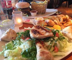 dinner, food, and lovetoeat image