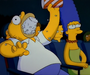 popcorn, simpsons, and the simpsons image