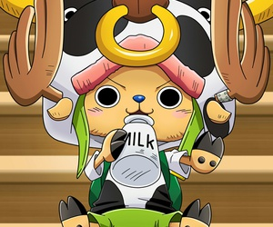 one piece, anime, and chopper image