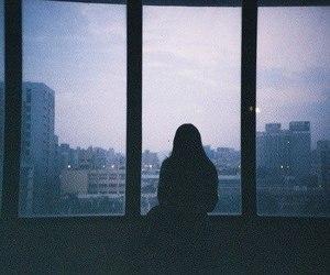 alone, city, and window image