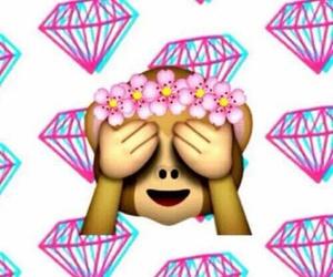 emoji, diamond, and background image