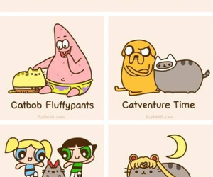cat, cartoon, and pusheen image