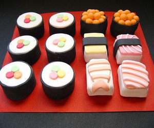 sushi, food, and sweet image
