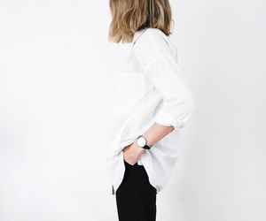 clothes, hair, and minimalist image