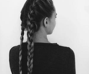 braids, girl, and hair image