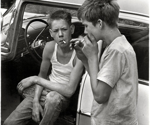 boy, cigarette, and smoking image