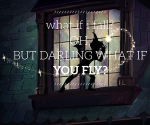 fly, peter pan, and quote image