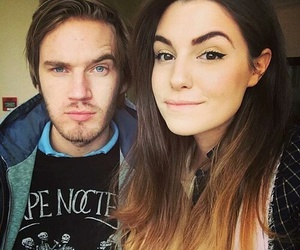 pewdiepie, marzia, and couple image