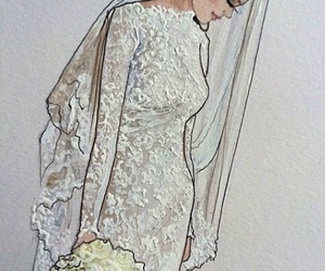 wedding, art, and dress image