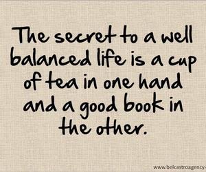 book, tea, and life image